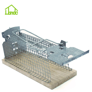 Wooden Base Live  Mouse Trap Cage
