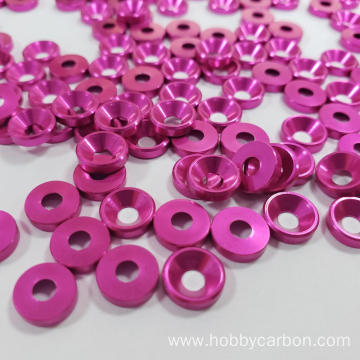 M4 red anodized Aluminum countersunk washer for FPV