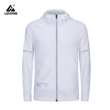 Women Casual Sports Zipper Solid Color Coat Hoodie Jacket