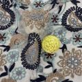 Paisley Heavy Poly Yarn Mesh Embroidery Fabric