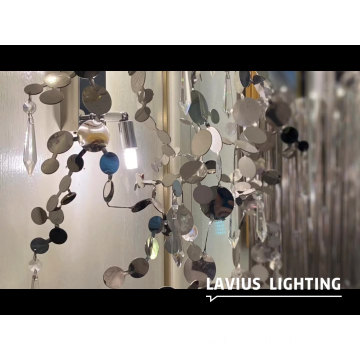 Office hall acrylic crystal ceiling chandelier lighting