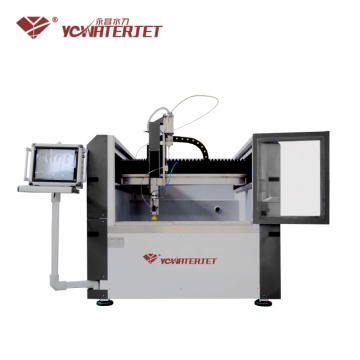 Waterjet Drilling Machine With Glass Cutter Operator