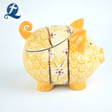 Wholesale Custom Printed Hand Made Cute Piggy Shape Ceramic Money Bank