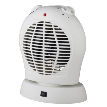 Upright fan heater with oscillating function