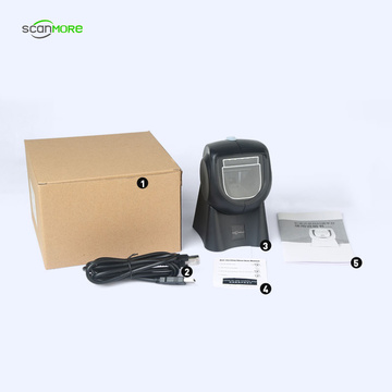 400times/s high speed desktop handsfree 2D barcode scanner
