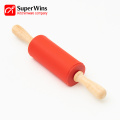 Food Grade Wood Handle Non-Stick Silicone Rolling Pin