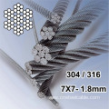 7X7 Dia.1.8mm Stainless steel wire rope