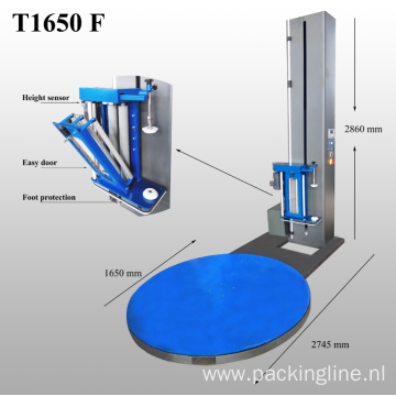 T1650F Pallet Stretch Wrapper Wrapping Machine