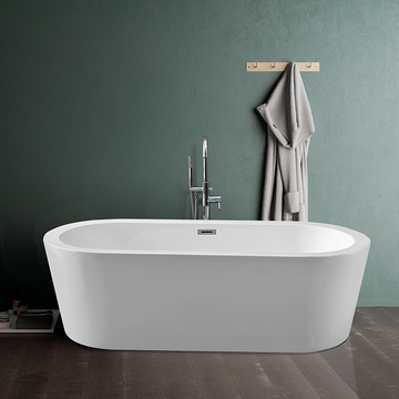 Soaking Stand Oval Shower Bathtub for Adults