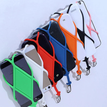 Phone Lanyard Case For iPhone 6 6s 7 8 plus Case iPhone X XS MAX 5S SE For case lanyard key lanyard for phone neck Silicone