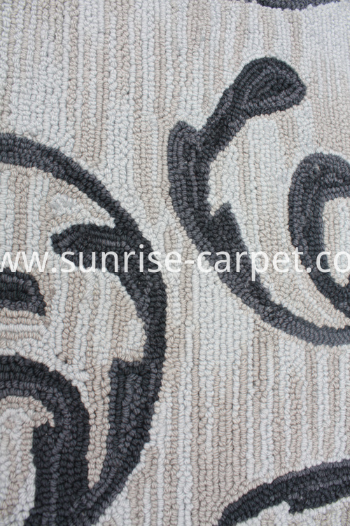 Dyeable Polyester Hand Hooked Carpet Rug