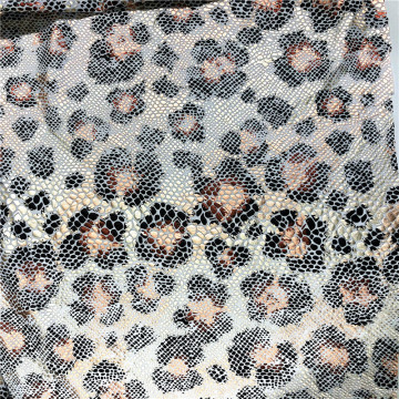 FDY Spandex With Leopard Foil