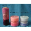 Romantic lovers celebration with craft candle