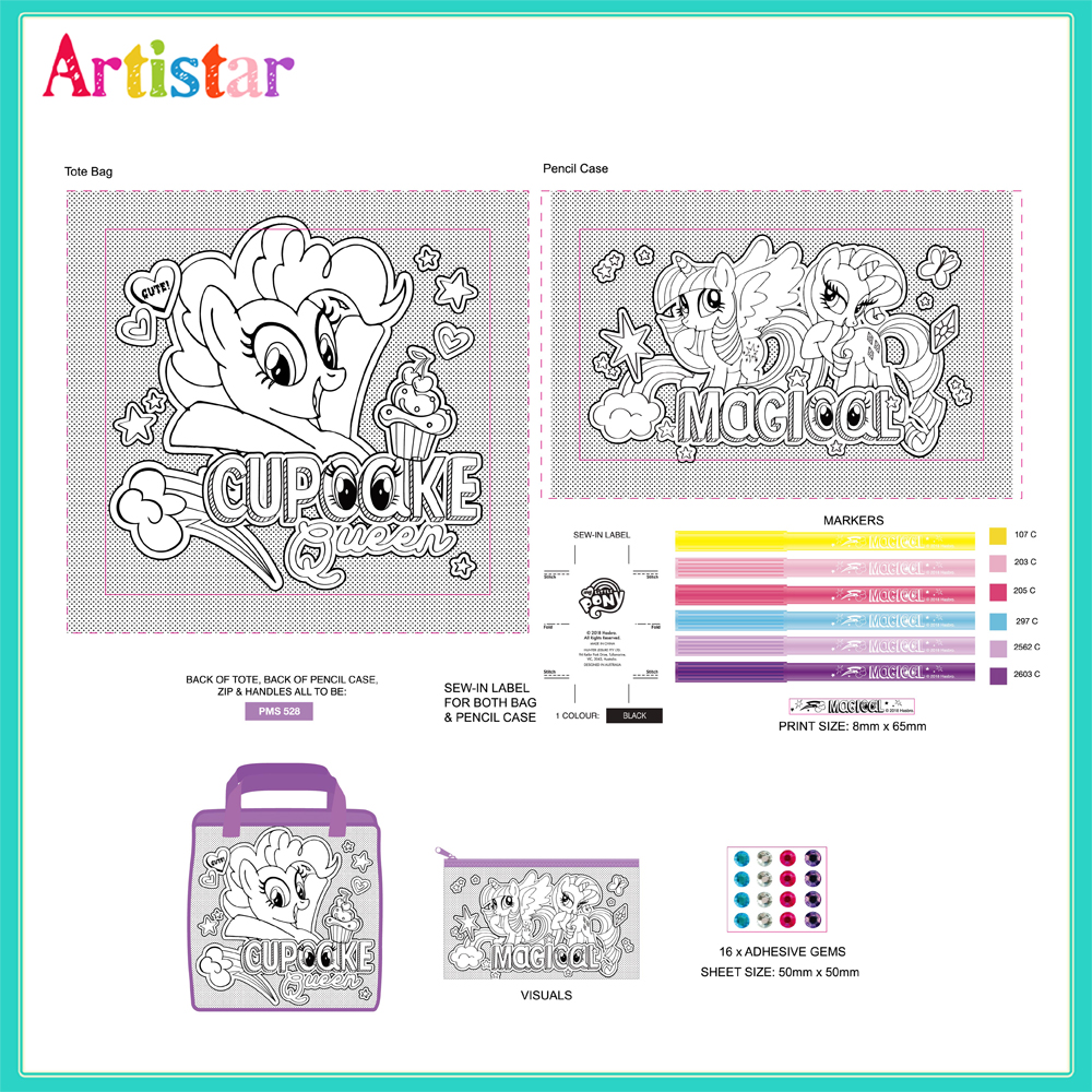 My Little Pony Colouring Your Own Bag 2