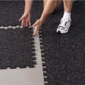 High density interlocking rubber gym flooring tiles
