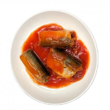 EU Certified Canned Mackerel Fish in Tomato Sauce