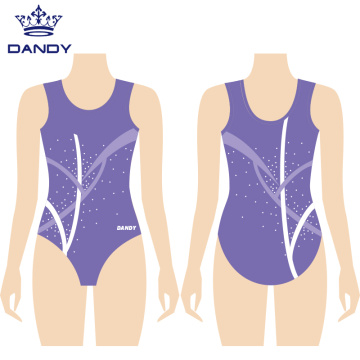 Sleeveless sublimation training leotards