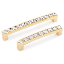 Crystal door cabinet handles interior for furniture