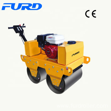 Pavement Compaction 550kg Two Drums Hand Operated Roller