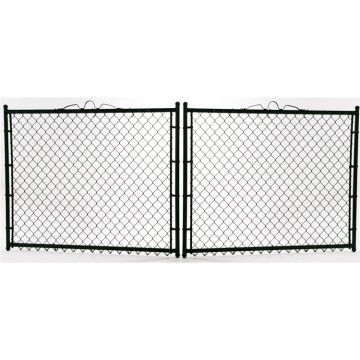 temporary construction chain link fence panel