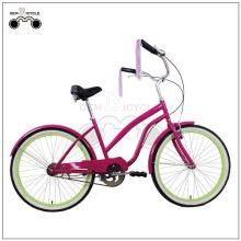 24inch Colorful Steel Girl Beach Bike Cruisers