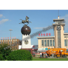 Wrought Copper Horse Sculpture in Qiqihar