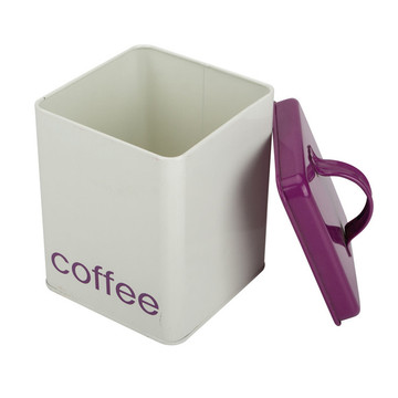 Red coffee tea canister