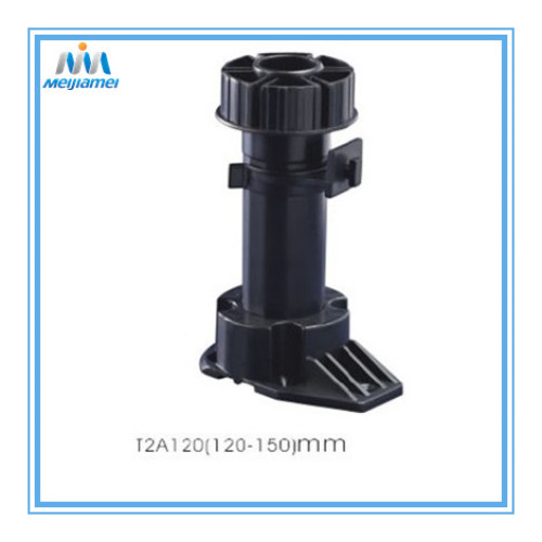 Furniture plastic leg with clips in ABS material