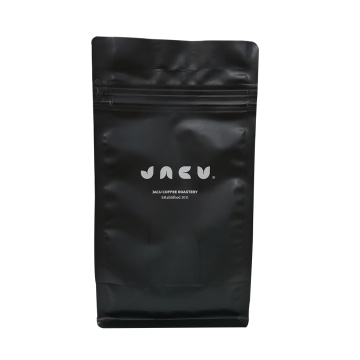 100% recycle materials flat bottom pouch coffee packaging bag with zipper