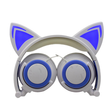 high quality cat ear portable headphone beautiful