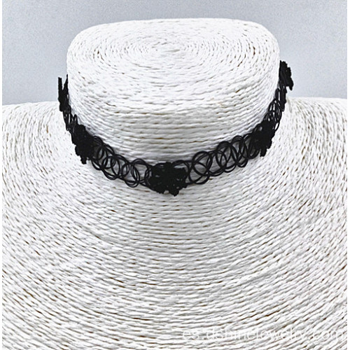 Retractor simple negro collar Margarita collar tatuajes