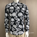Male 100% cotton print long sleeve shirt