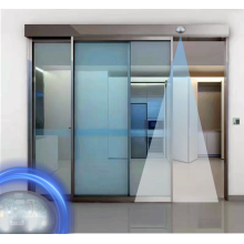 Hotel automatic glass sliding doors