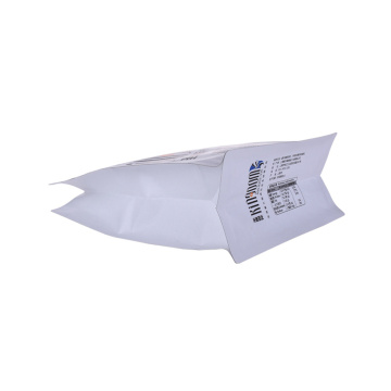 Clear bulk compostable coffee packaging bags printed
