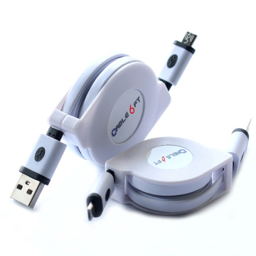 1.8M 3M Retractable USB Male to Micro USB V8 Data Sync and Charging Cable