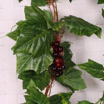 Creative Artificial Grape Fake Vine Garlands Faux Fruit Wendding Leaf Ivy