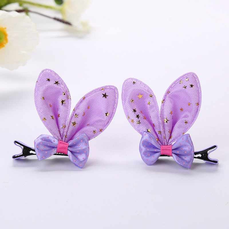 Bow tie rabbit ear hairpin rabbit ear clip (6)