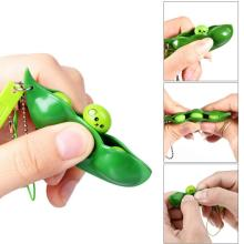 Antistress For Hands Infinite Squeeze Edamame Bean Pea Expression Chain Key Pendant Stress Relief Decompression Toys Antistress