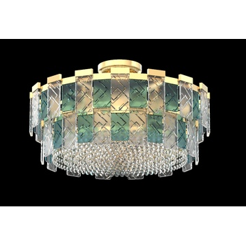 Modern Bedroom Decoration Round Crystal Ceiling Light