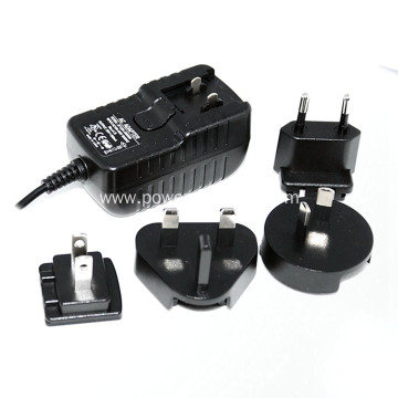 Interchangeable Plug 24v 0.5a Power Supply Adapter
