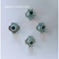 Zinc plated Pour tooth Half thread Tee nut