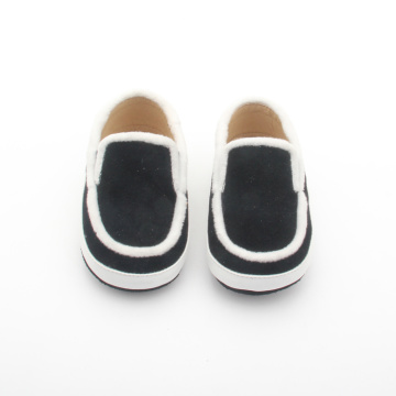 Black Boy Boat shoes Leather kids casual shoes