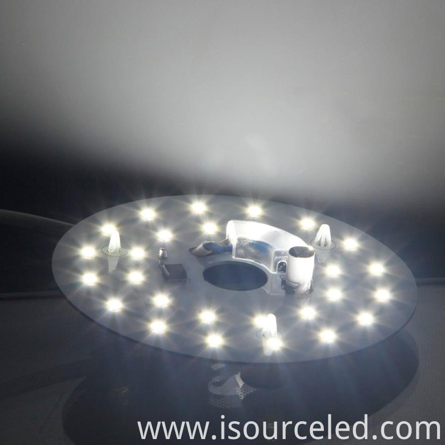 Led Dob Module 9W bottom view product power-on luminous diagram