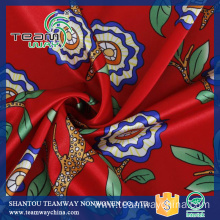 Digital Printing Satin Fabric 100% Polyester Fabric