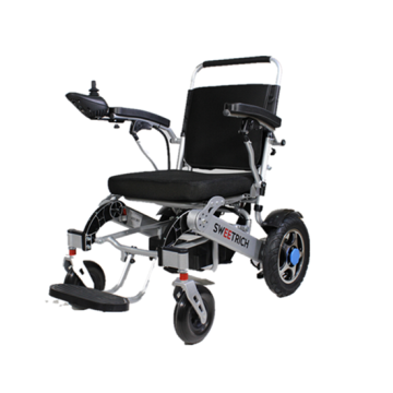 4-wheel portable folding wheelchair