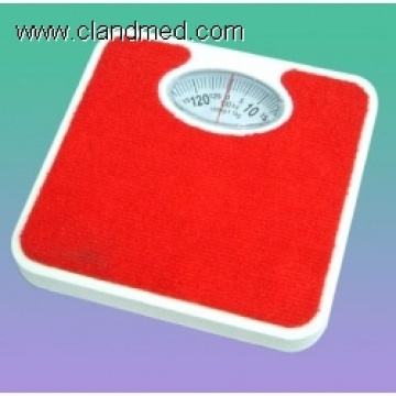 Homely Red bathroom scale