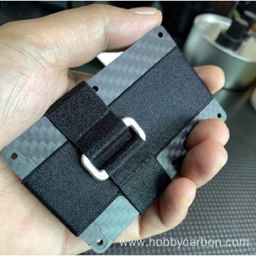 forged carbon fiber wallet RFID credit card holder