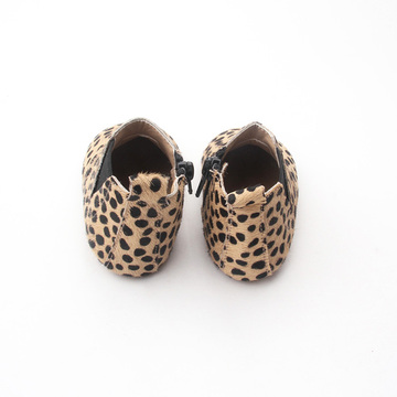 Wholesale Winter Leopard Baby Genuine Leather Boots