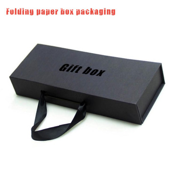 Black paper box packagign for collapsible