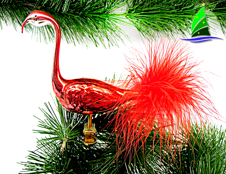 Glass Flamingo Decoration Ornament